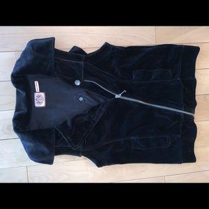 🆕 JUICY COUTURE! 👑 Velvet Moto Vest (NEVER WORN)